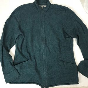 Title Nine Full Zip wool sweater w. Pocket Large